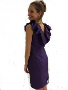 Katja - selbst genähtes Kleid von hinten